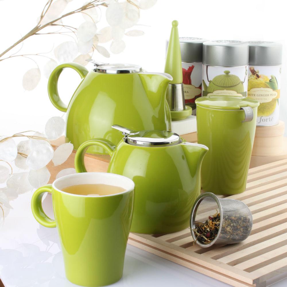 Tea Forté|普格陶瓷茶壺 - 草綠