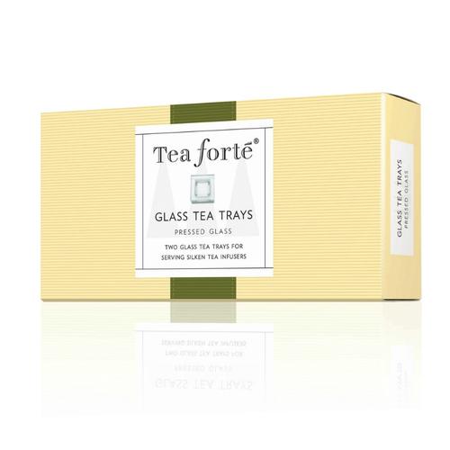 Tea Forté|2入玻璃方型茶托