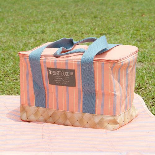 DESTINO STYLE 日本B/D直條紋折疊野餐袋