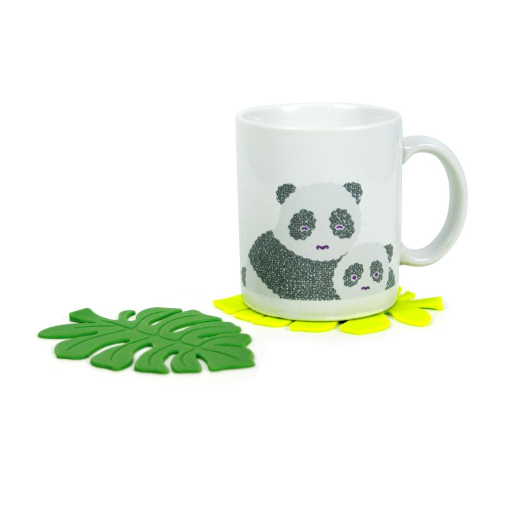 DESTINO STYLE|日本清新樹葉造型矽膠杯墊(3入)