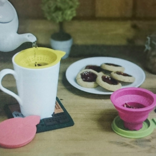 DESTINO STYLE 日本樹葉杯蓋伸縮濾茶器
