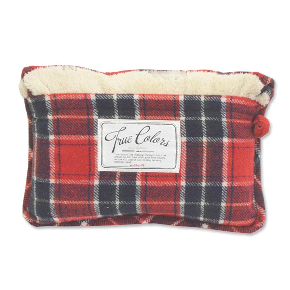 DESTINO STYLE 日本B/D直條紋折疊野餐袋日本格紋兩用保暖毯