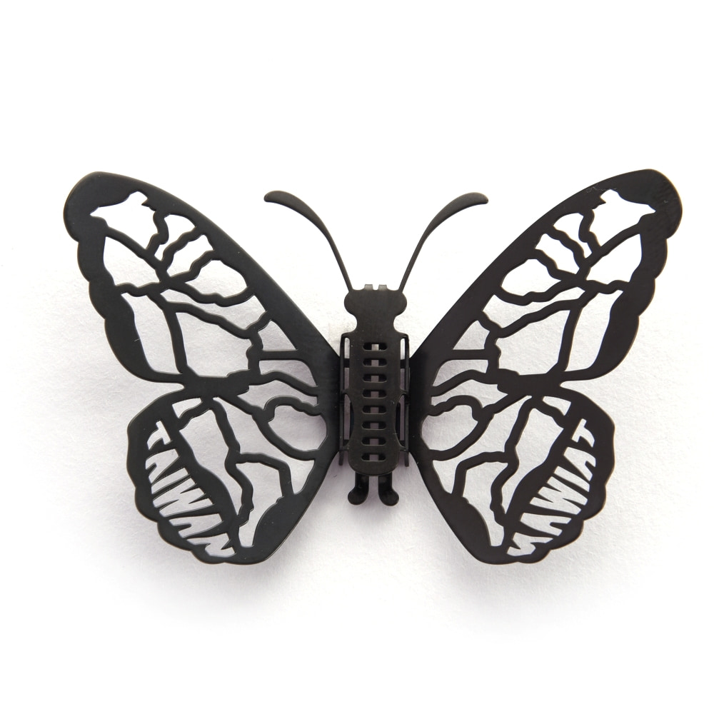 Magi-Steel 蝶@台灣 可換翅膀蝴蝶項鍊-台灣風景系列–台灣地圖(黑色)