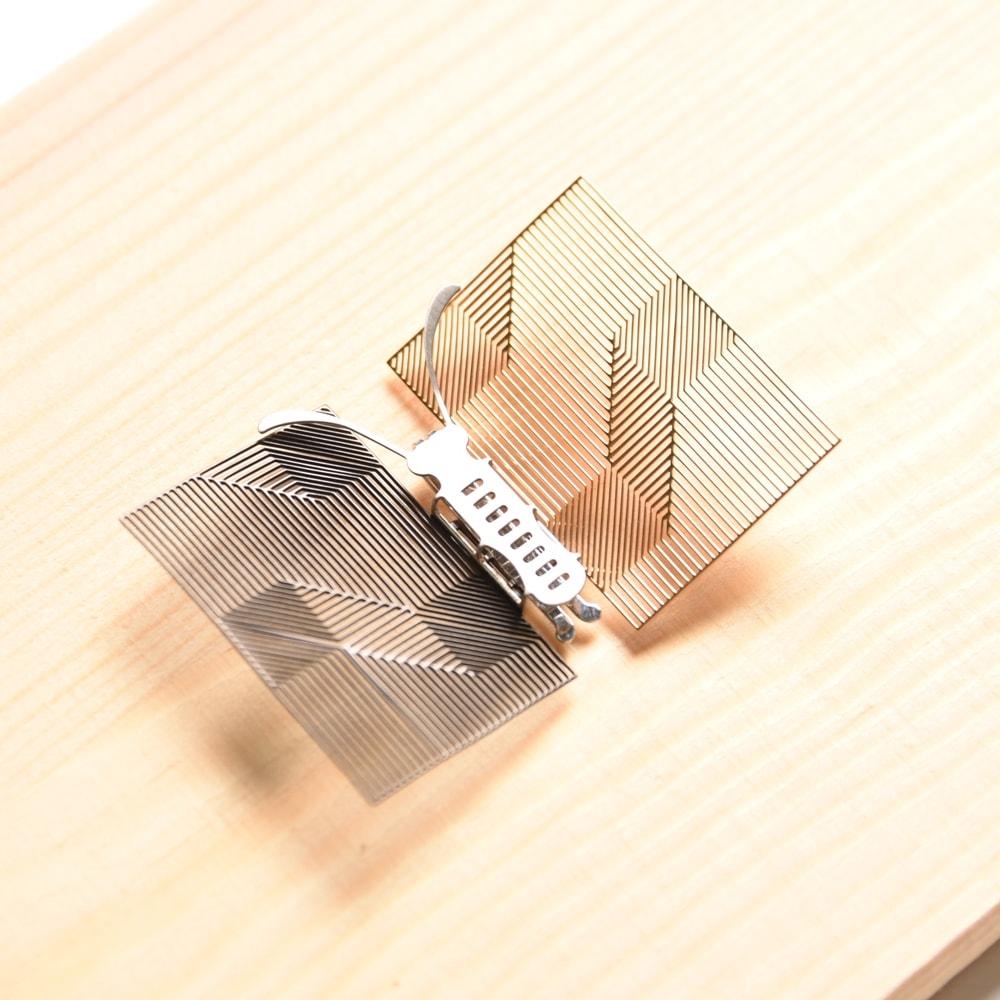 Magi-Steel|蝶@台灣 可換翅膀蝴蝶項鍊-似有若無系列–書卷(銀色)