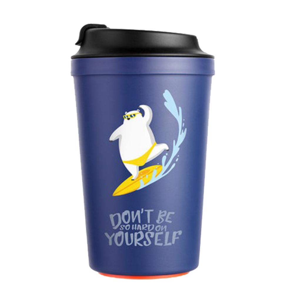 Artiart|神奇不倒咖啡杯-藍北極熊
