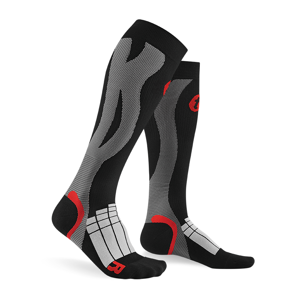 titan太肯|壓力運動襪-Elite-黑/灰色