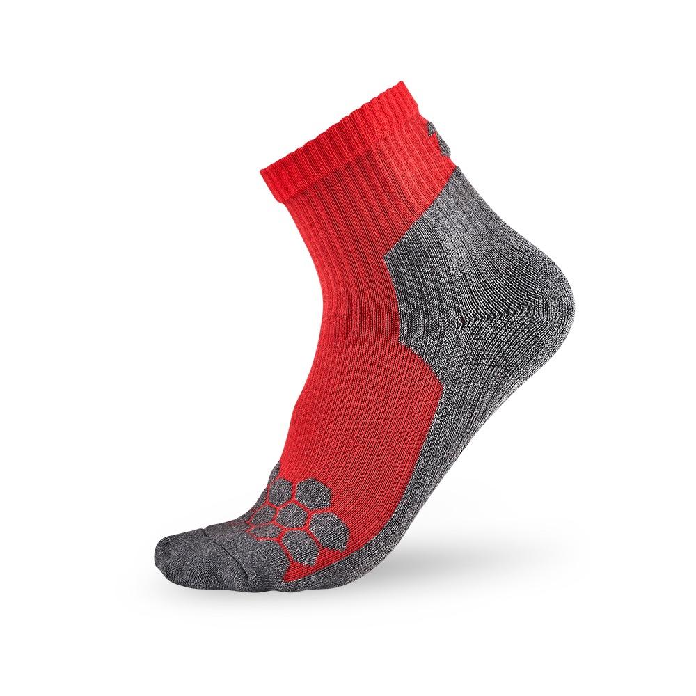 titan太肯 專業籃球襪-紅/灰(3入)