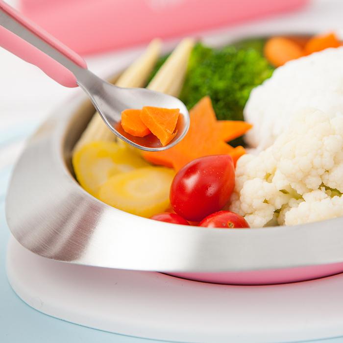 VIIDA|Soufflé 抗菌不鏽鋼餐具組 - 甜心粉