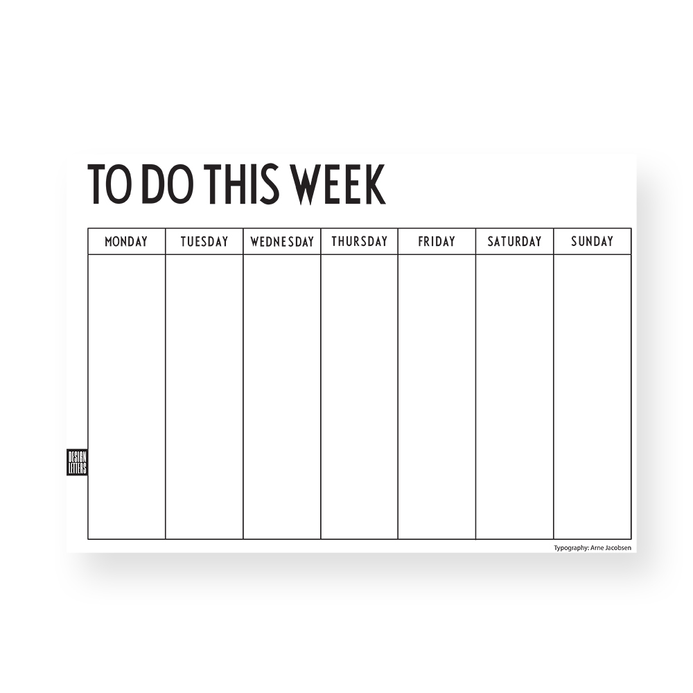 DESIGN LETTERS|週計畫本 Weekly Planner