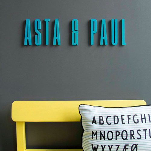 DESIGN LETTERS|藍色木字母A-Z