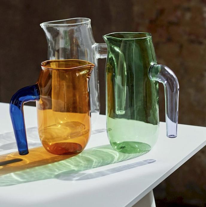 HAY l Glass Jug 吹玻璃水壺 (Amber/琥珀黃)