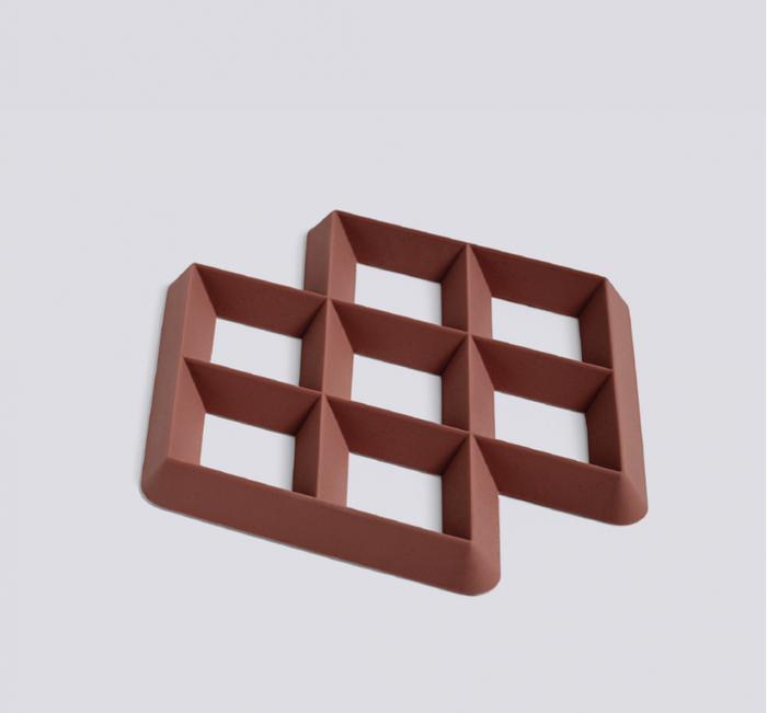 HAY | Rhom Trivet 菱格隔熱墊(暗紅色)