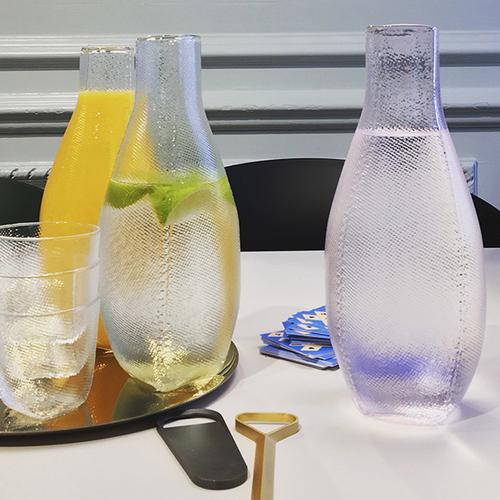 HAY l Tela Carafe 紡織袋紋水瓶(粉)