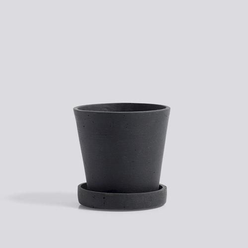 HAY l Flowerpot With Saucer / 墊盤花盆 (黑 / Black) (S)