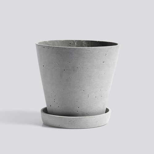 HAY l Flowerpot With Saucer / 墊盤花盆 (灰 / Grey) (L)