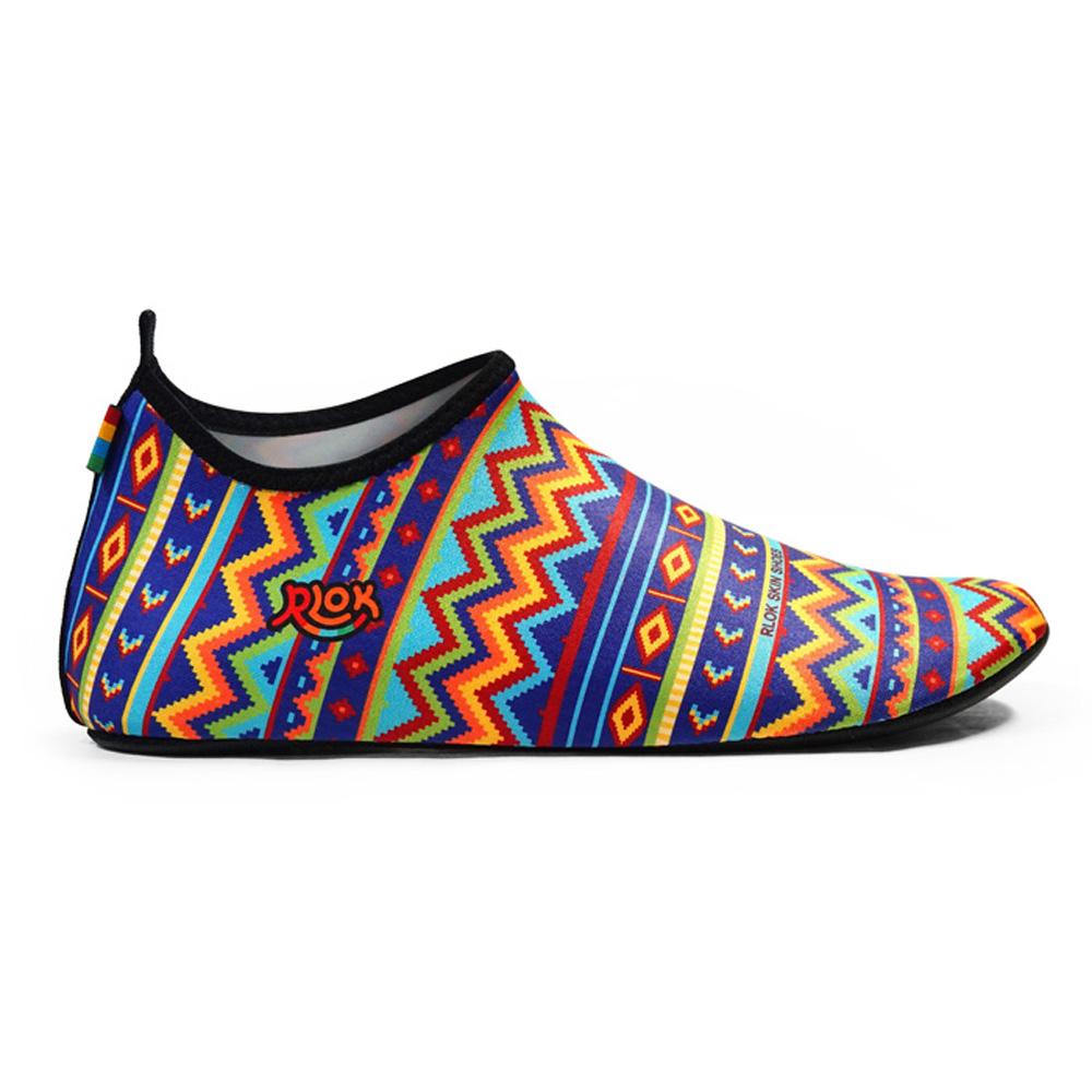 RLOK │SKINSHOES 赤足鞋 民族藍