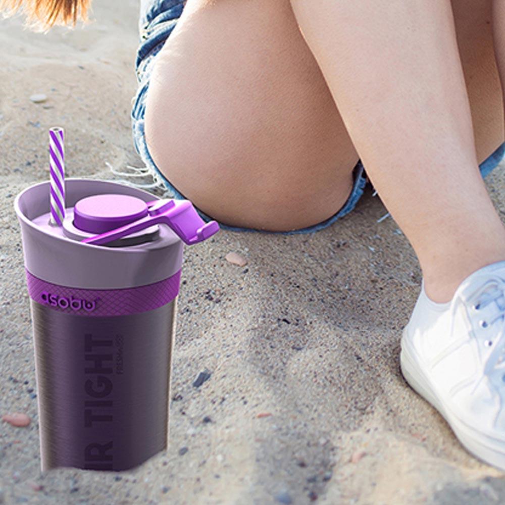 Asobu│新鮮GO真空保鮮杯 紫色