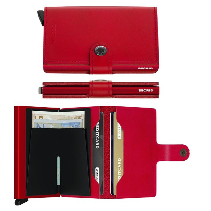 (複製)荷蘭 SECRID|RFID安全防盜錄經典迷你真皮卡夾 - 原黑