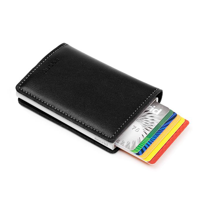 (複製)荷蘭 SECRID|RFID安全防盜錄經典迷你真皮卡夾 - 紅