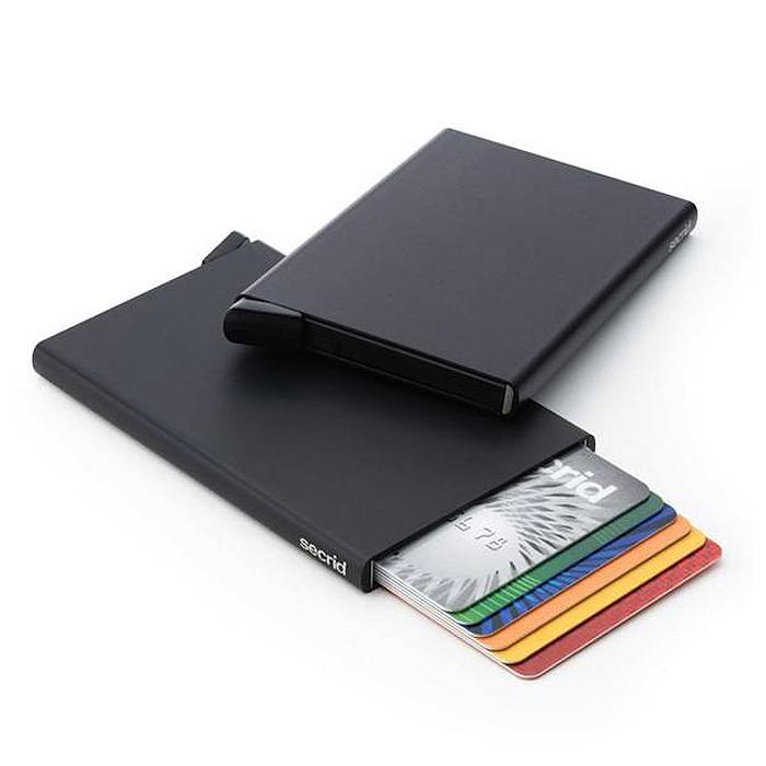 荷蘭 SECRID|RFID安全防盜錄 Cardprotector 鋁合金單卡夾 - 黑