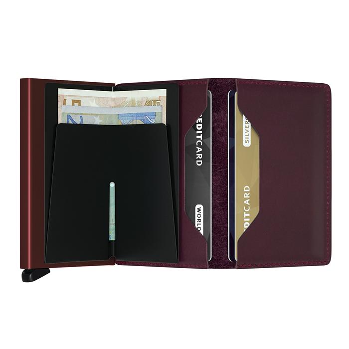 (複製)荷蘭 SECRID RFID安全防盜錄 Slimwallet Original 經典真皮卡夾-酒紅