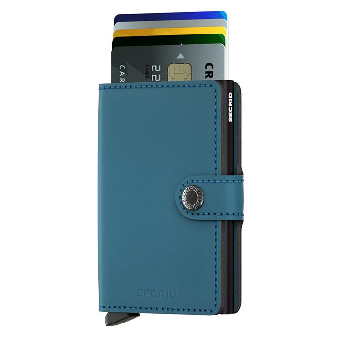 荷蘭 SECRID|RFID安全防盜錄 Miniwallet Matte 經典真皮卡夾 - 墨藍