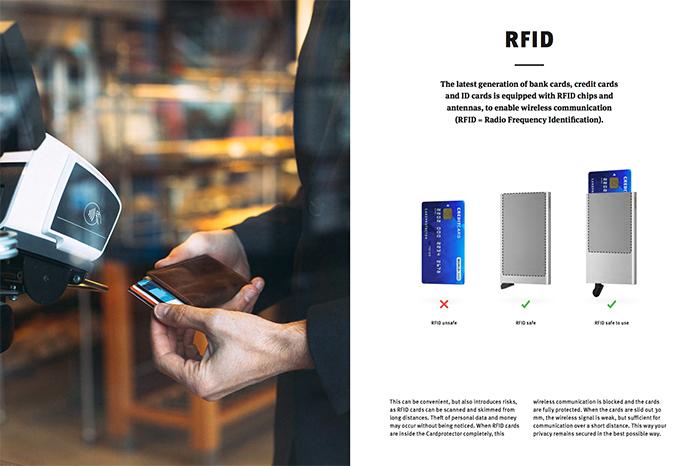 荷蘭 SECRID|RFID安全防盜錄 Cardslide 智慧滑卡式多功能卡夾 - 黑