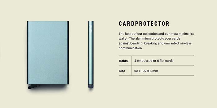 荷蘭 SECRID|RFID安全防盜錄 Cardprotector 智慧單卡夾 - 黑
