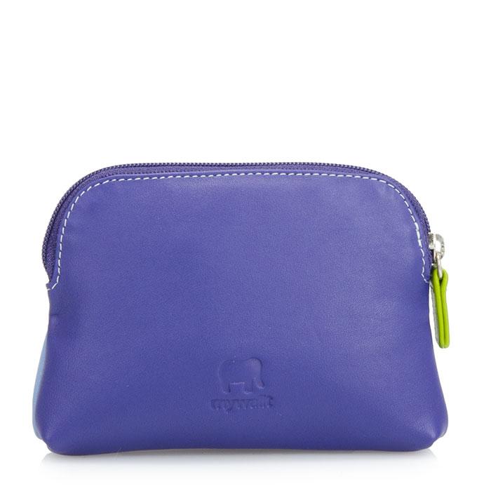 義大利 mywalit|繽紛配色真皮革 小牛皮卡片鑰匙零錢包 -薰衣草紫