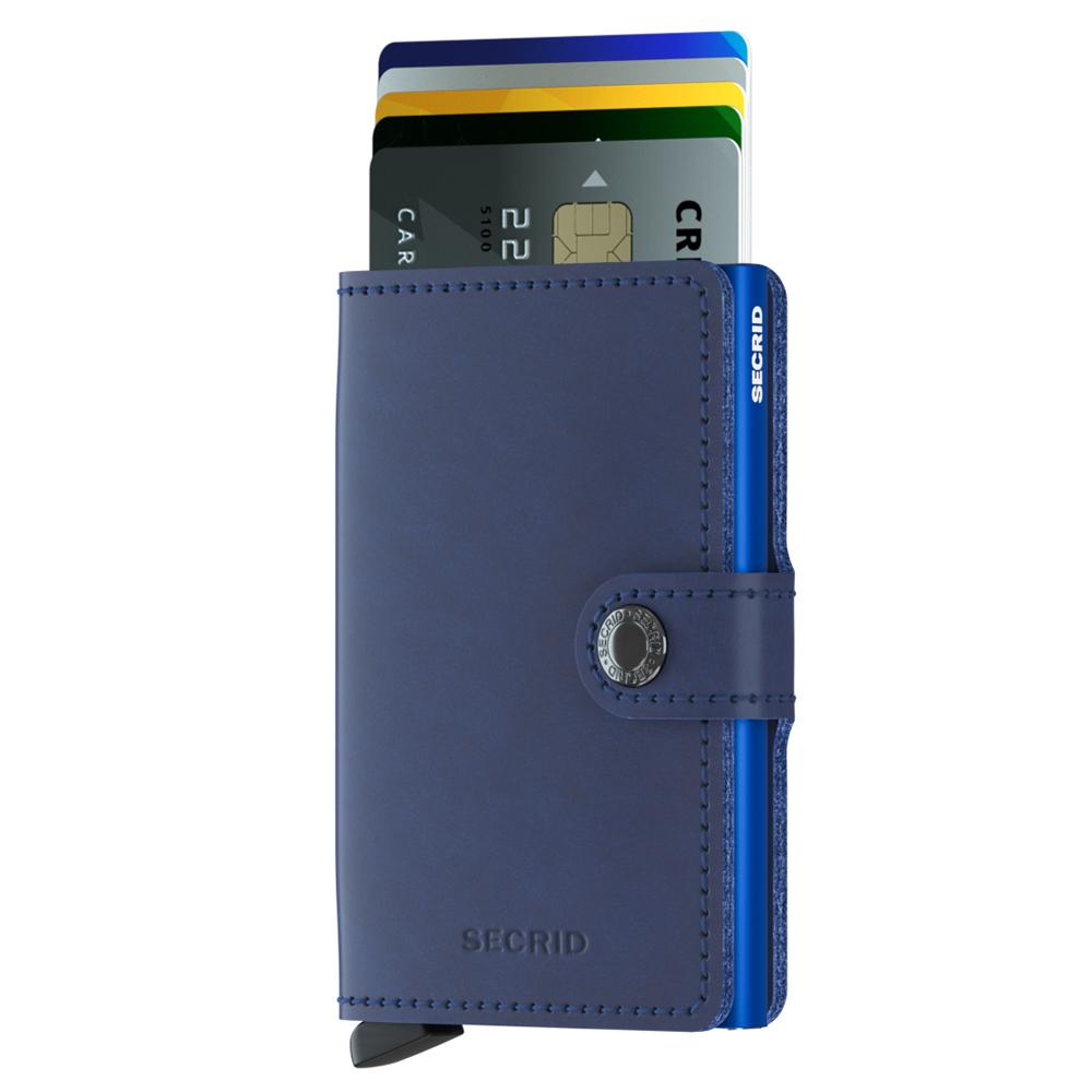 荷蘭 SECRID|RFID安全防盜錄 Miniwallet Original 真皮卡夾 - 海軍藍
