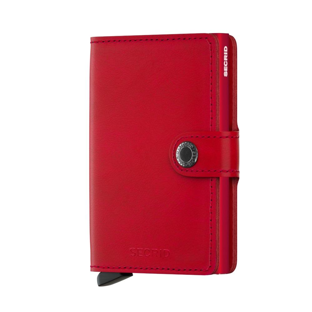 荷蘭 SECRID|RFID安全防盜錄 Miniwallet Original 真皮卡夾 - 紅