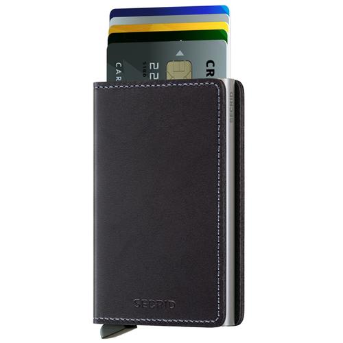 荷蘭 SECRID|RFID安全防盜錄Slimwallet Original經典真皮卡夾 - 原黑