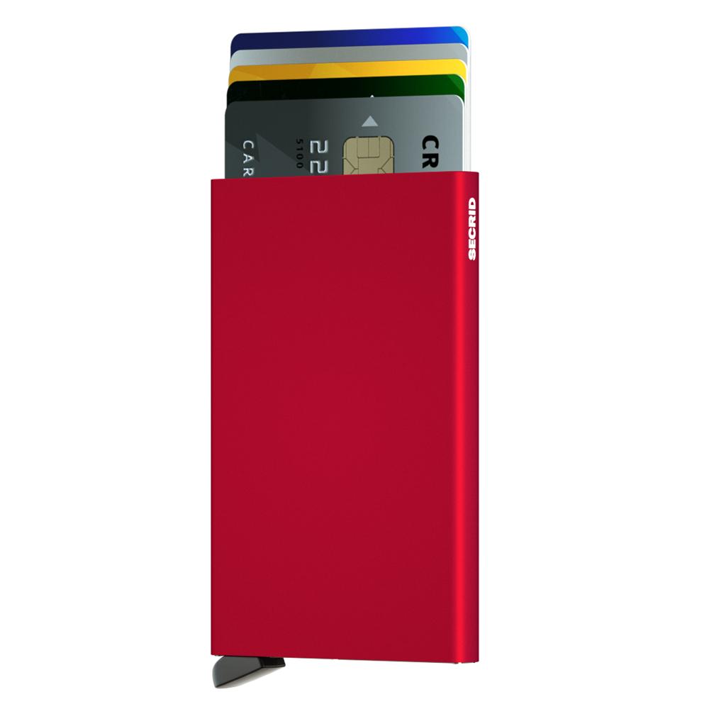 荷蘭 SECRID|RFID安全防盜錄 Cardprotector 鋁合金單卡夾 - 紅
