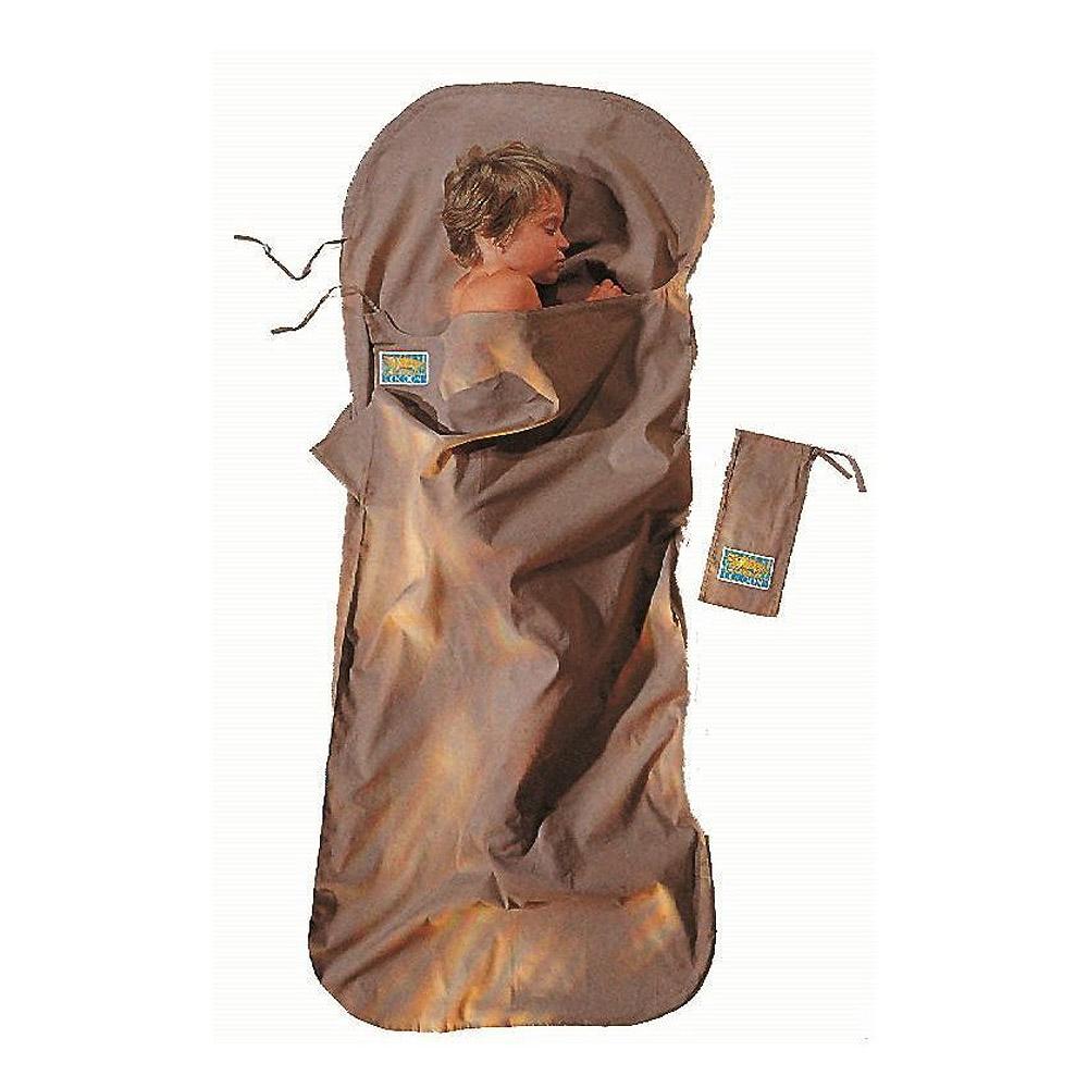 奧地利 COCOON 舒適睡眠 輕量天然純棉兒童/嬌小成人款旅行床單-卡其