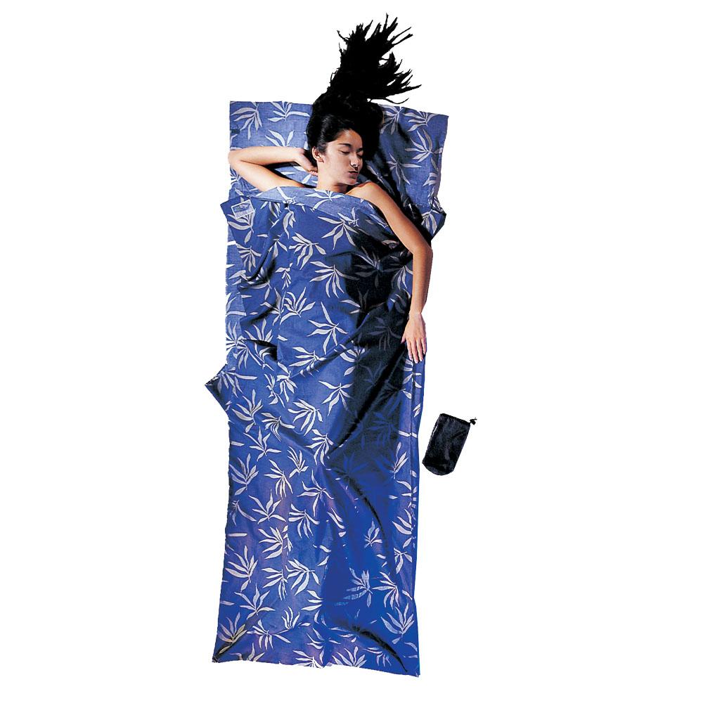 奧地利 COCOON 舒適睡眠 天然純棉旅行床單/睡袋內袋-葉狀紋