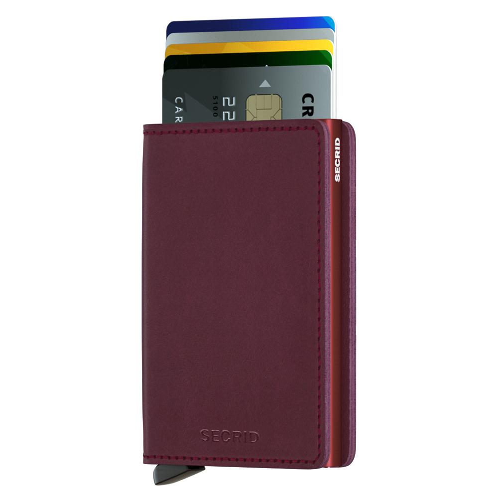 荷蘭 SECRID RFID安全防盜錄 Slimwallet Original 經典真皮卡夾-酒紅