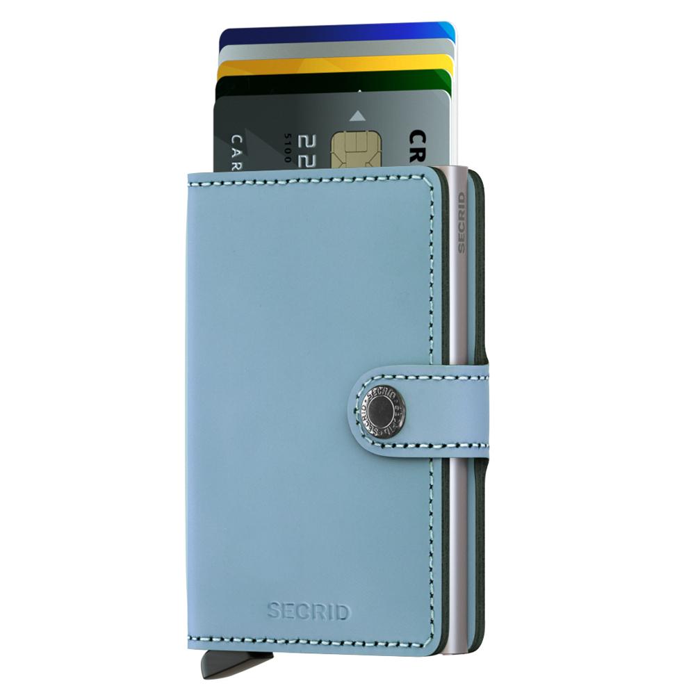 荷蘭 SECRID|RFID安全防盜錄 Miniwallet Matte  經典真皮卡夾 - 嬰兒藍