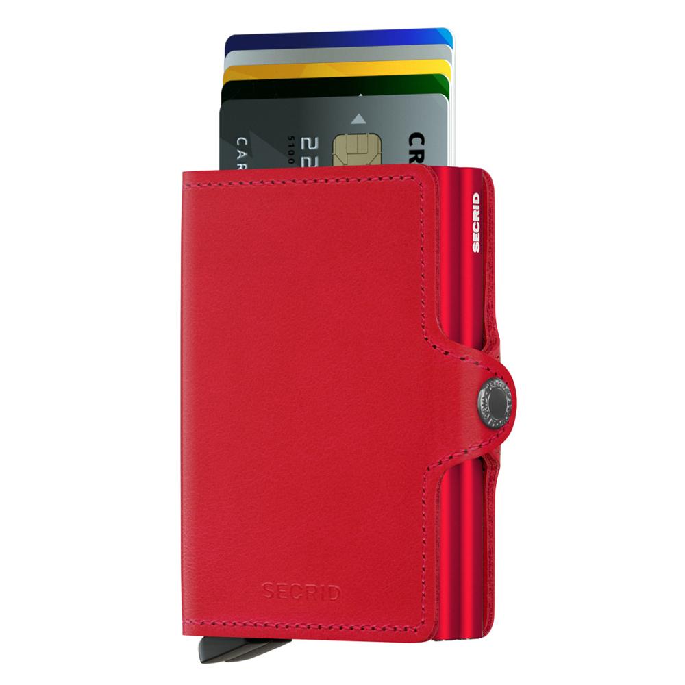 荷蘭 SECRID|RFID安全防盜錄 Twinwallet Original 雙層經典卡片夾 - 紅