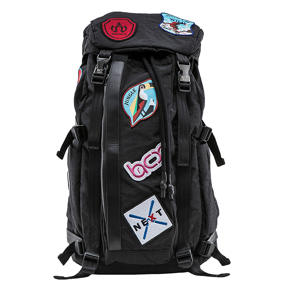 bacarry|Adventure-LoveLife-L1803 電繡布章後背包