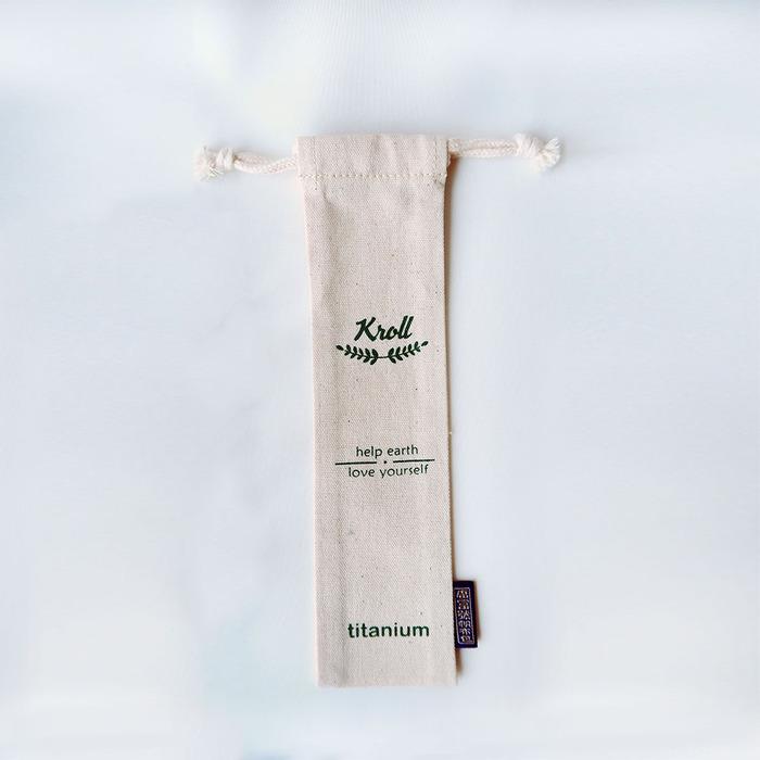 (複製)KROLL|純鈦小吸管組 (吸管+清潔刷+束口袋)