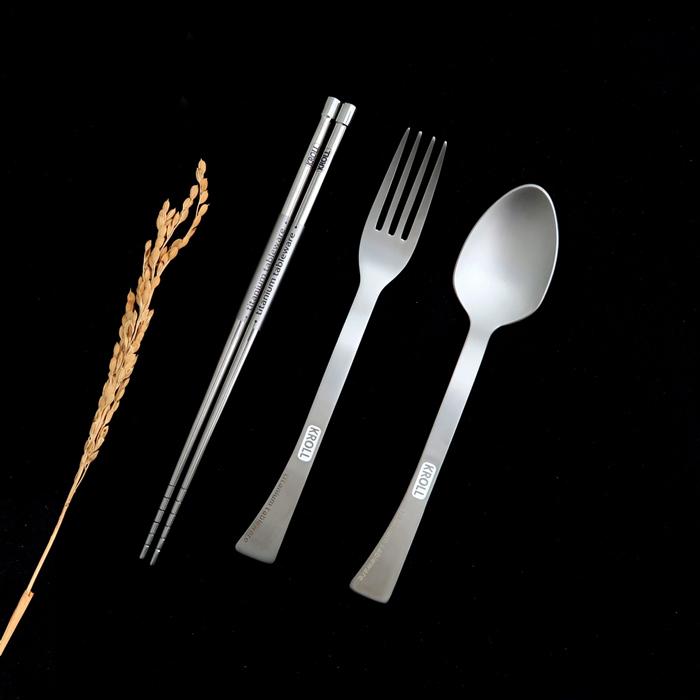 KROLL|全鈦筷叉匙組