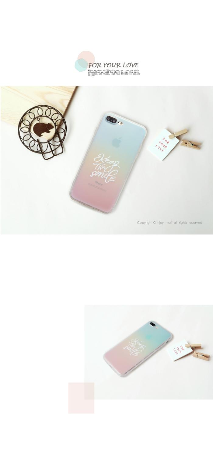 INJOY mall|iPhone 6 / 7 / 8 / Plus / X 系列 )幸福微笑霧面手機殼