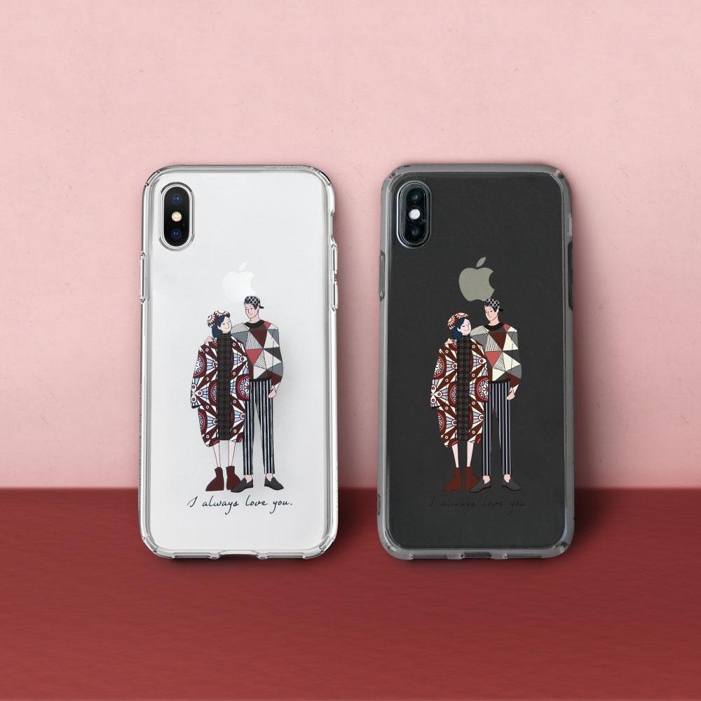 INJOY mall|iPhone 6 / 7 / 8 / Plus / X 系列 情人節 客製 訂製 禮物 透明 耐衝擊防摔手機殼