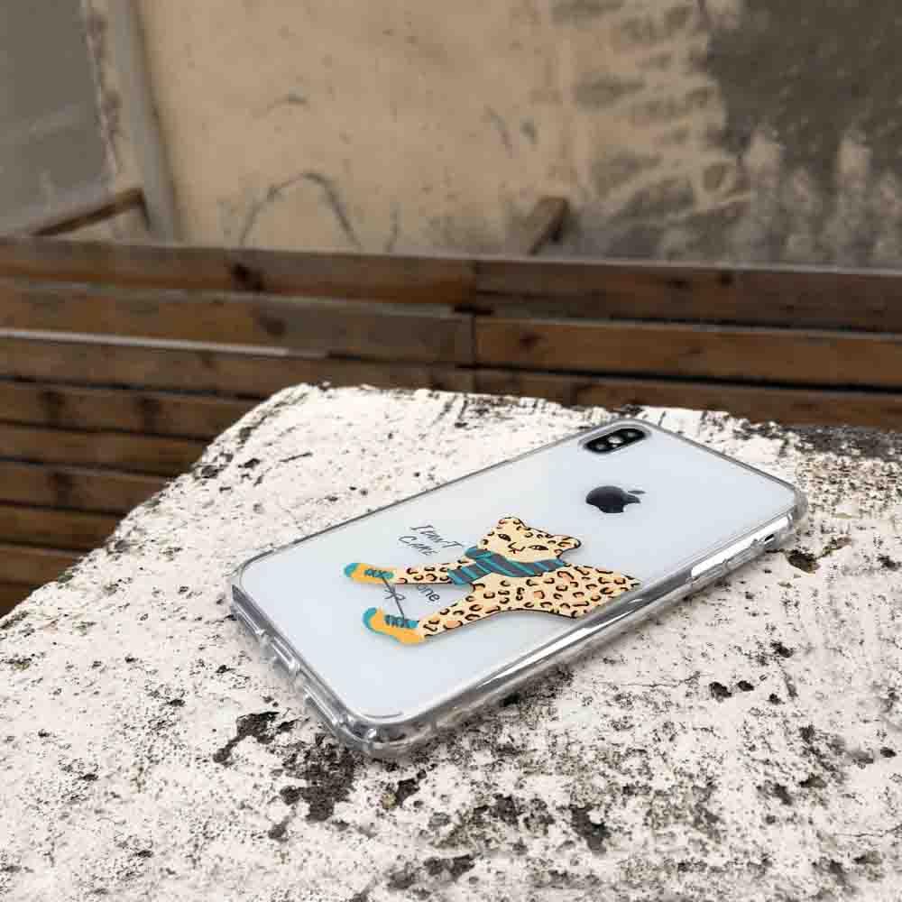 INJOY mall|iPhone 6 / 7 / 8 / Plus / X 系列 透明花豹 耐衝擊防摔手機殼