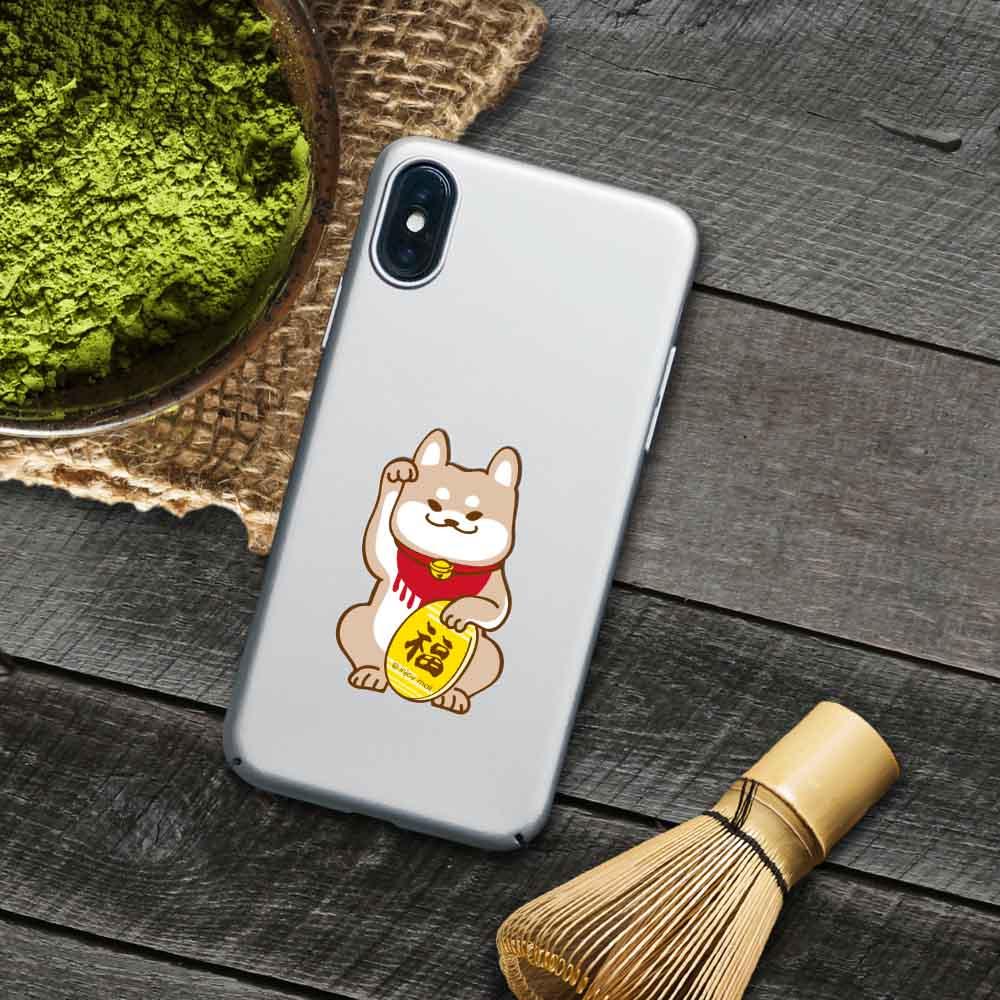 INJOY mall iPhone 6 / 7 / 8 / Plus / X 系列 淘氣柴犬招福 超輕薄磨砂手機殼