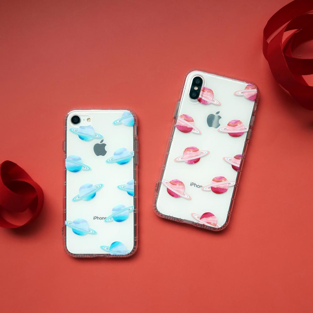 INJOY mall|iPhone 6 / 7 / 8 / Plus / X 系列 粉樂星球亮面手機殼