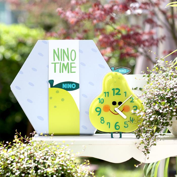韓國NINO HapPy TimE童趣時鐘-微笑西洋梨