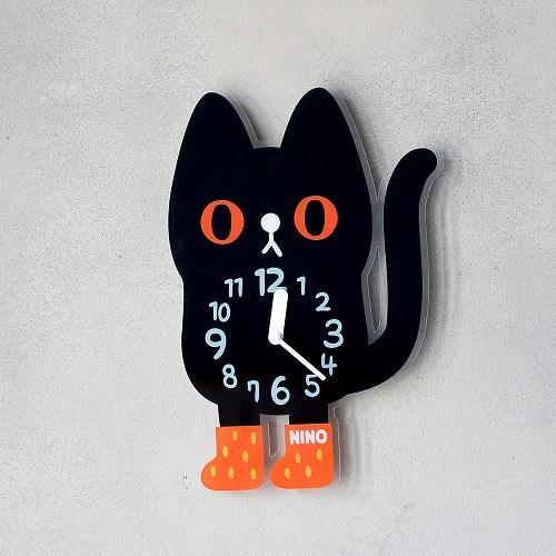 韓國NINO|HapPy TimE童趣時鐘-小黑貓吉吉