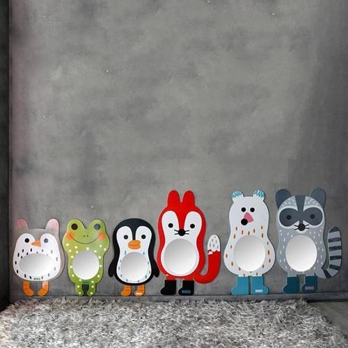 韓國NINO|兒童彩繪壁貼鏡-淘氣小浣熊