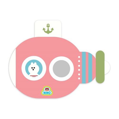 韓國NINO 兒童彩繪壁貼鏡-海底歷險記-粉紅色